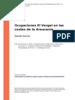 Daniel Quiroz. (2001). Ocupaciones El Vergel en Las Costas de La Araucania