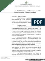 Jurisprudencia 2019-IB C-OSDE -Amparo de Salud