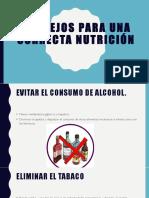 Consejos Para Una Correcta Nutrición