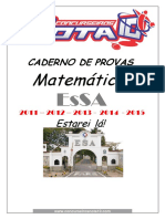Caderno de Provas Matemática 11. 12. 13. 14. 15