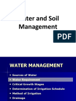 Water & Soil Management