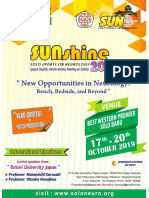 Second Announcement Sunshine 2019