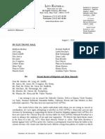 Letter Regarding Recent Threats of Litigation