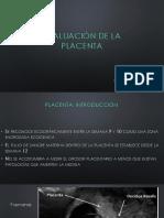 Evaluacion de La Placenta