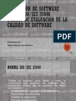 Calidad de Software ISO IEC 25040