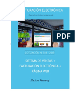 Cotizacion N. 649 Sistema de Ventas Facturacion Electronica Pagina Web