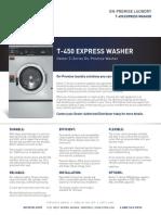 Dexter t 450 Express t 450 on Premise Specification Sheet