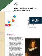 Trabajo Distribucion Hipergeometrica