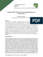 Authentic ELT Materials in the Language Classroom