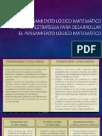 pensamiento logico matematico 1 primaria