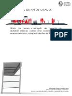 Un nuevo concepto de parada de autobús urbano como una combinación de nuevos servicios y requerimientos de los usuarios.