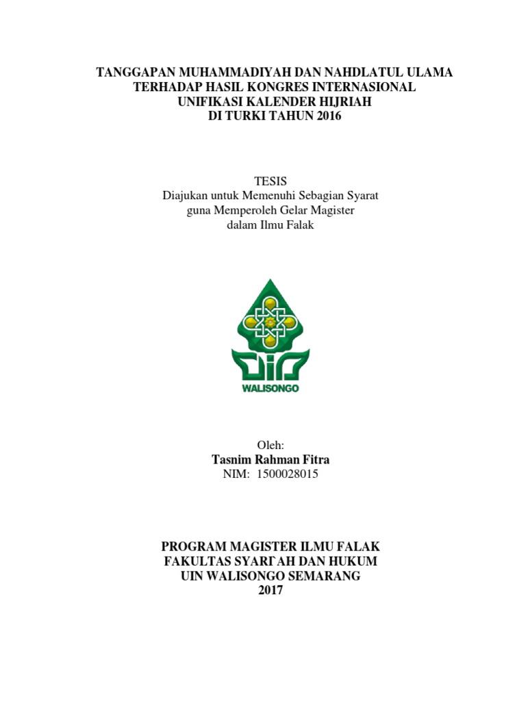 Tanggapan Muhammadiyah Dan Nahdlatul Ulama Terhadap Hasil Kongres ...