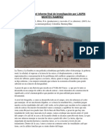 Lo Escrito en El Informe Final de Investigación Por LAURA MONTES RAMÍREZ