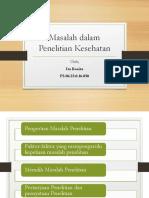 Tugas Masalah Penelitian dlm Kesehatan.pptx