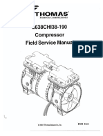 Thomas 2638xxxx190 Compressor - Service Manual