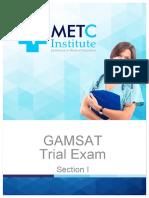 GAMSAT trial test