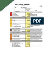 19-07-22 Project Budget TCC Master Plan