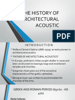 history of acoustics in architecture