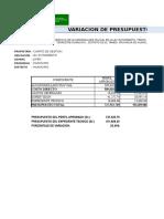 VARIACION DE PRESUPUESTO