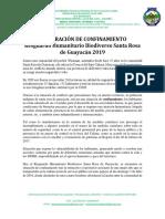 Declaración de Confinamiento