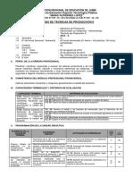 Modelo de Sílabo Técnicas de Producción II 2016 II