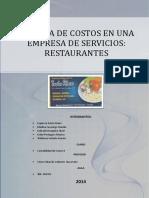 Costos en Restaurantes