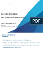 Batch Disposition