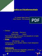 Fármacocinética en Psicofarmacología