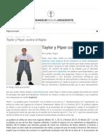 Evangelio_ Taylor y Piper Contra El Rapto