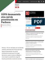 SSPH desmantela otra red de prostitución en Pachuca