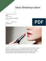 Kenali 3 Bahan Berbahaya Dalam Lipstik