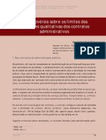 TCE-MG - Limites de Acréscimos Em Contratos Administrativos
