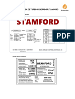 Ficha Tecnica de Turbo-generador Stamford