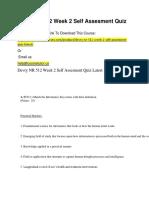 Devry NR 512 Week 2 Self Assesment Quiz Latest