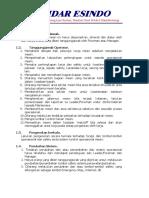 Prosedur Pengoperasian Transfer Conveyor (Jo 054-17)