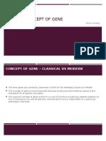 Modern Concept of Gene