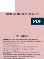 5. Training and Development