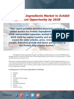 Global Protein Ingredients Market to Exhibit Significant Opportunity by 2028