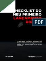 Checklist do meu primeiro lançamento