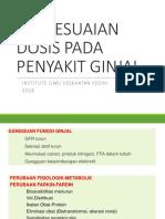 Penyesuaian Dosis Pada Penyakit Ginjal-1