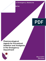 Pharmacological Agents for Procedural Sedation and Analgesia (March 2019 Revised)