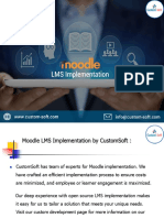 Moodle LMS Implementation by CustomSoft