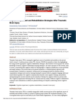 Cognitive Impairment and Rehabilitation Strategies After Traumatic Brain Injury