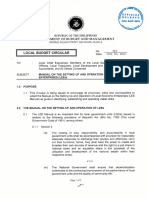Local Budget Circular No. 111 - Manual on the Setting Up and Operation of Local Economic Enterprises (Lees)