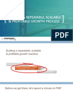 Building a Repeatable, Scalable Growth Process - David Skok