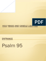 Holy Mass and Candlelighting