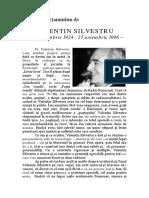 Dumitru Hurubă, Valentin Silvestru - Portret
