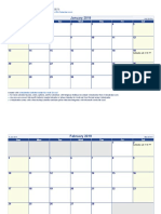 2019 Word Calendar