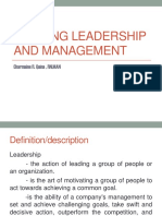 Nursing Leadership and Management2018