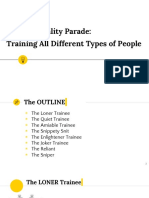 The Personality Parade - Training All Different Types of People
